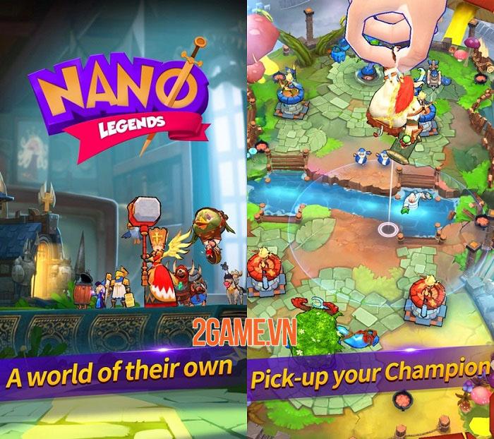 Nano Legends - Game chiến thuật 3D phòng thủ tháp hỗn chiến đáng chơi 1