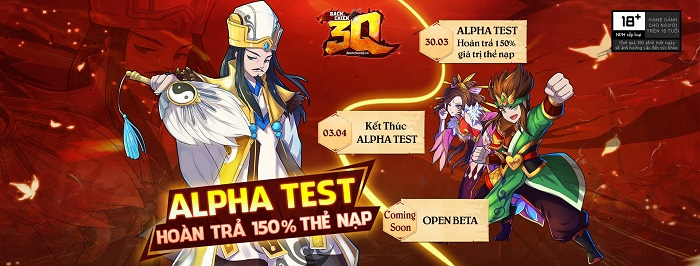 Tặng 545 giftcode Bách Chiến 3Q mừng ra mắt phiên bản Alpha Test 4