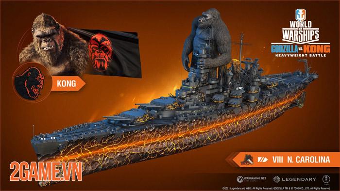 Đại chiến Godzilla vs Kong bất ngờ tái hiện trong World of Warships 1