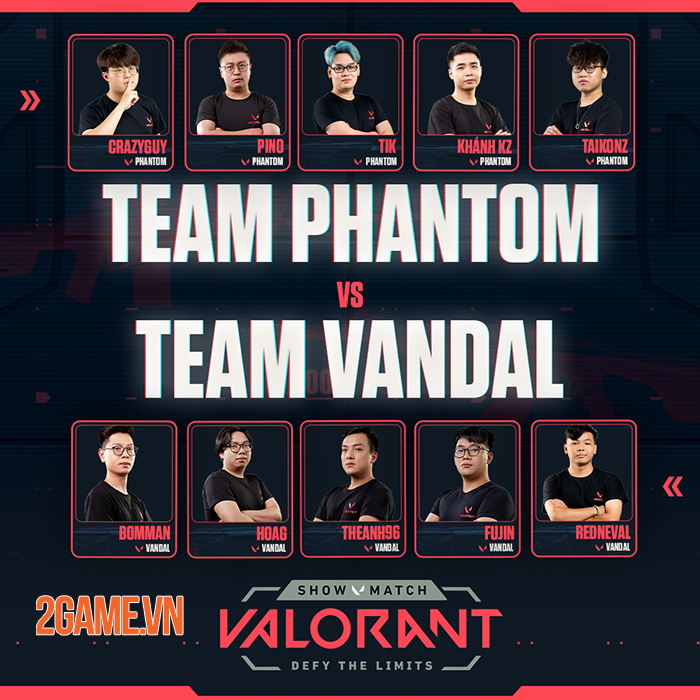 Hé lộ dàn khách mời khủng: Booman,Theanh96… tại showmatch ra mắt Valorant 3
