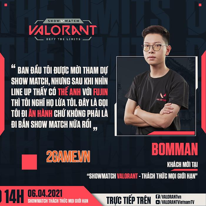 Hé lộ dàn khách mời khủng: Booman,Theanh96… tại showmatch ra mắt Valorant 1