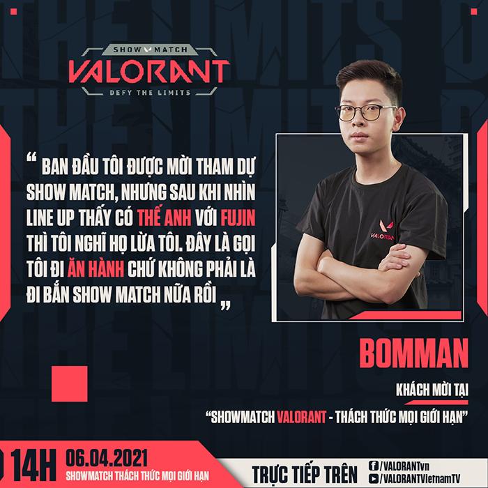 Hé lộ dàn khách mời khủng: Booman,Theanh96… tại showmatch ra mắt Valorant 2