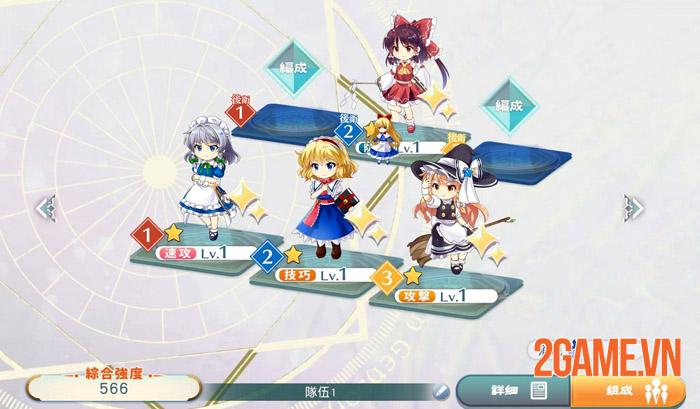 Touhou LostWord - Trải nghiệm mới mẻ với game thẻ bài cùng dàn waifu 2