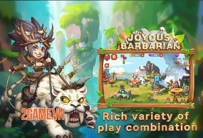 Joyous Barbarian - Game thẻ bài đưa bạn trở về thời kỳ đồ đá 4