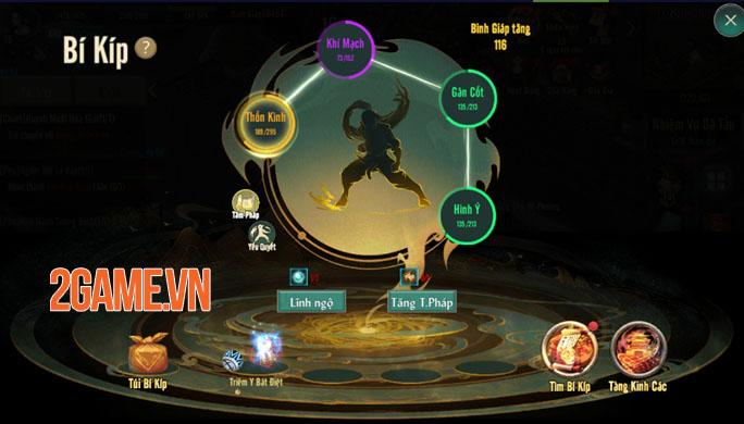 Bí kíp tăng sức mạnh trong Võ Lâm Truyền Kỳ 1 Mobile 2