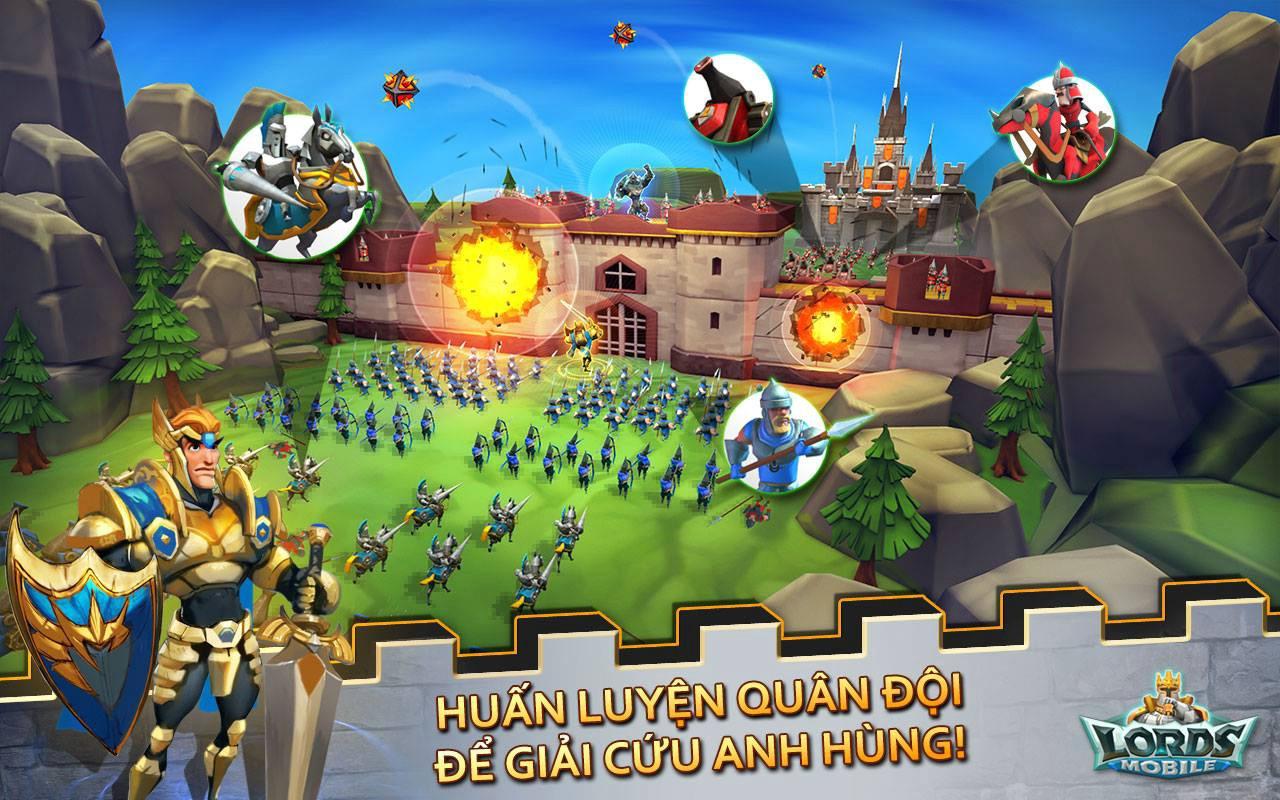 Lords Mobile mang đến cùng lúc hai mô thức chơi nhập vai và chiến thuật thú vị trên di động 3