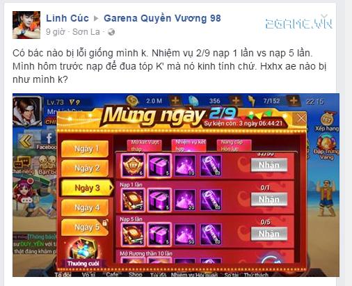 Game Quyền Vương 98 bị game thủ tố cáo về hành vi cài người vào kích top của NPH 6