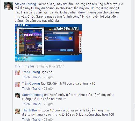 Game Quyền Vương 98 bị game thủ tố cáo về hành vi cài người vào kích top của NPH 2