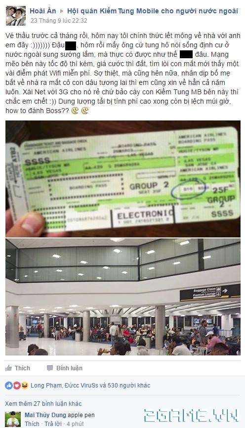 Kiếm Tung mobile xuất hiện đại gia mua vé máy bay từ Mỹ về Việt Nam để chơi game cho đỡ Lag