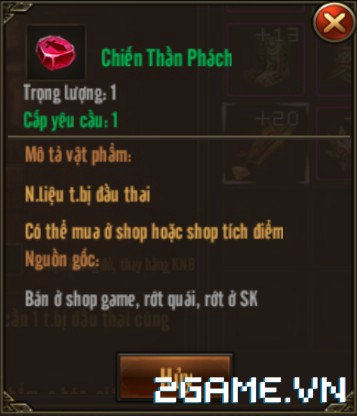 Võ Lâm Returns - Tính Năng Trùng sinh trang bị 2