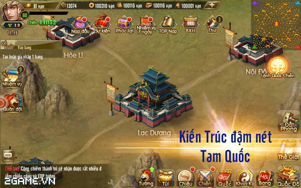 Tam Quốc Bá Nghiệp - Game chiến thuật hạng nặng trên mobile về Việt Nam 2