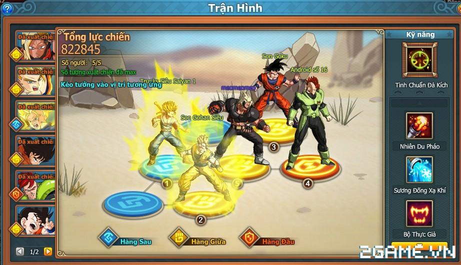 7 Viên Ngọc Rồng Web - Hệ thống tướng 0