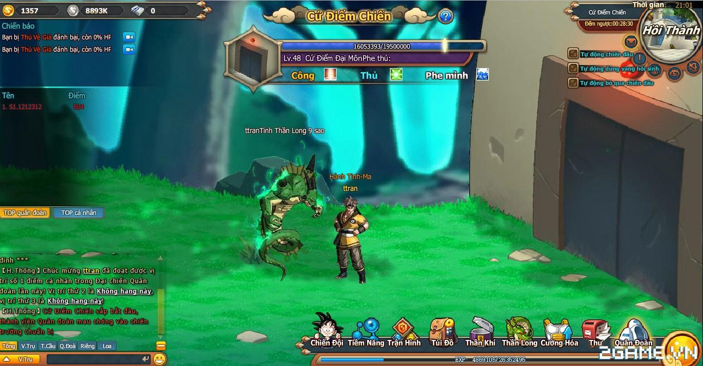7 Viên Ngọc Rồng Web - Hoạt động quân đoàn chiến 1
