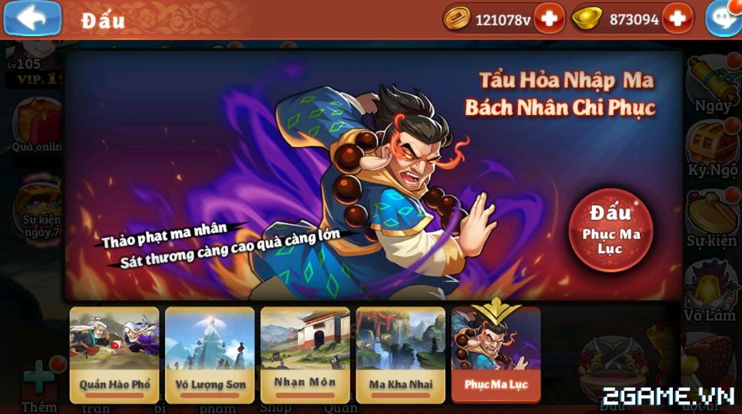 Đông Tà Tây Độc mobile – Tính năng – Phục Ma Lục