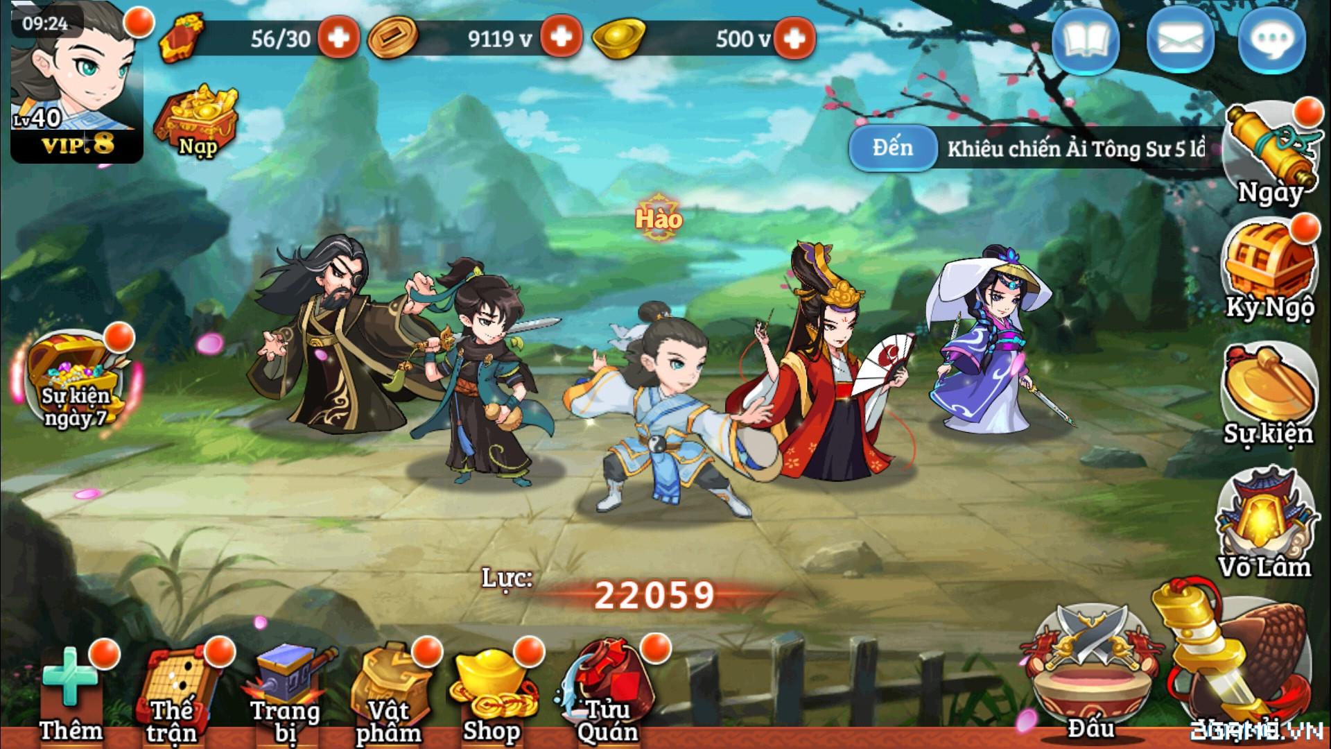 Đông Tà Tây Độc mobile – Kịch Bản Chơi Game