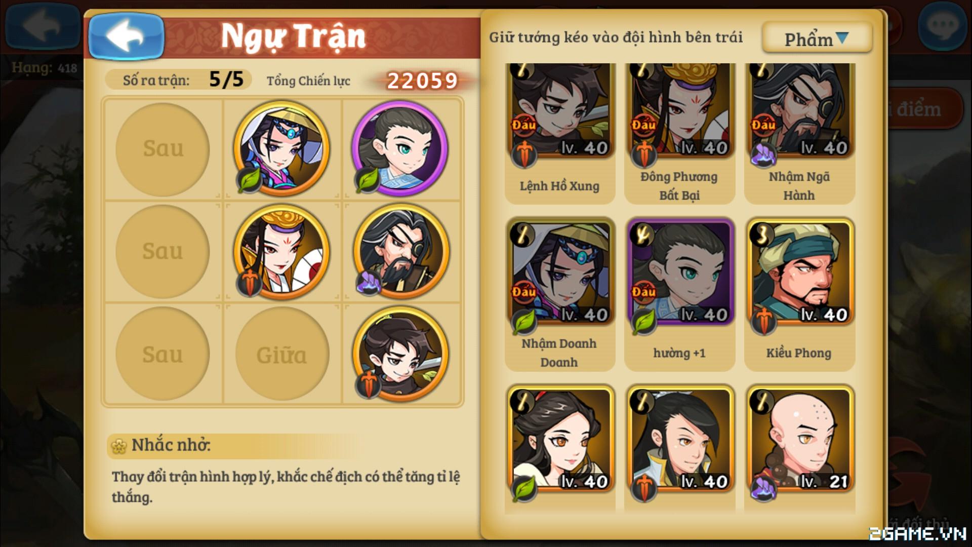 Đông Tà Tây Độc mobile – Hướng dẫn chơi game