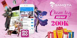 NPH Gamota hợp tác cùng ví điện tử Momo để tặng ưu đãi cho game thủ