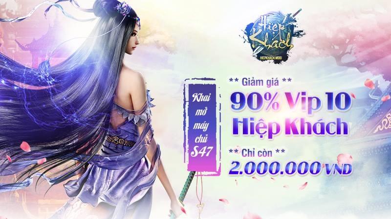 [Shock] VIP 10 game mobile Hiệp Khách Gamota giảm giá tới 90%?! 0