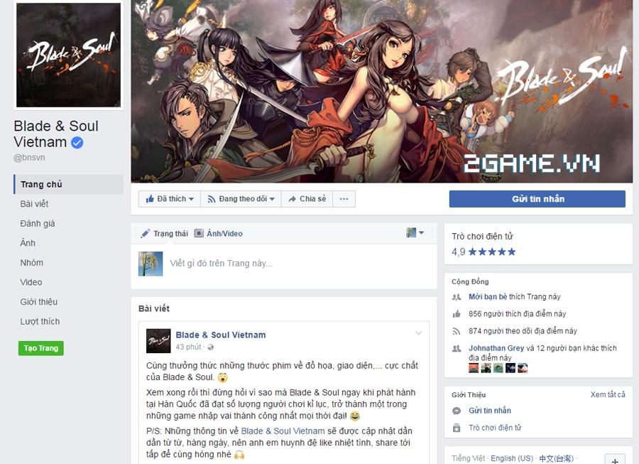 Blade & Soul Việt Nam ra mắt fanpage chính thức, tiếp nhận fan hâm mộ 0