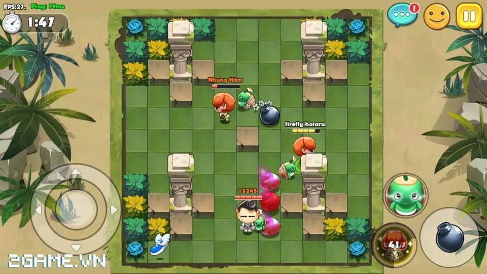 Boom Bá Online mang đến lối chơi quen thuộc của dòng game đặt bom kinh điển 0