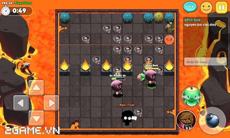 Boom Bá Online mang đến lối chơi quen thuộc của dòng game đặt bom kinh điển 1
