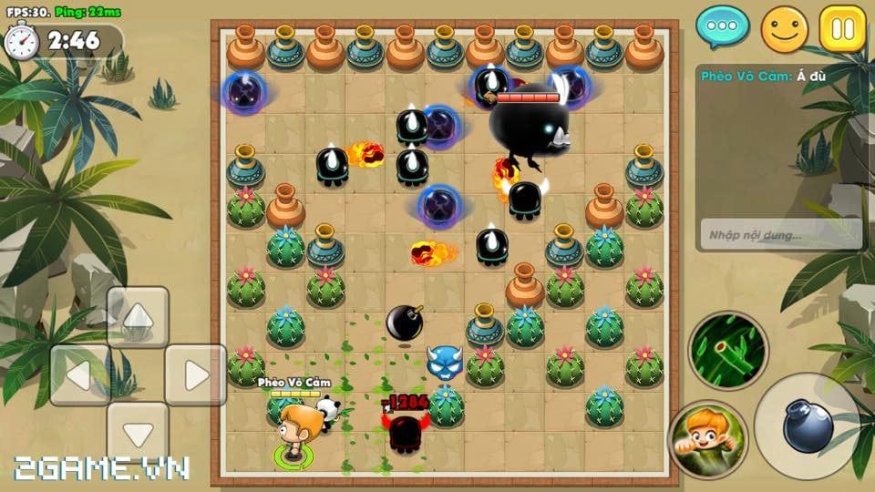Boom Bá Online mang đến lối chơi quen thuộc của dòng game đặt bom kinh điển 4