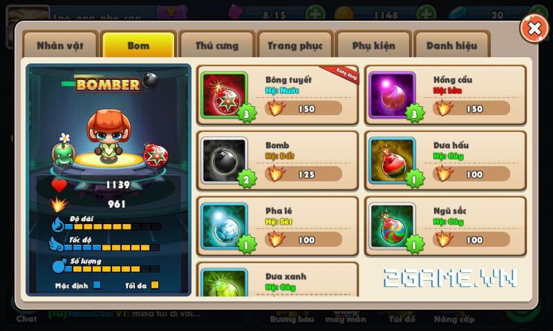 Điểm mặt các tính năng đặc sắc phá cách trong Boom Bá Online 8