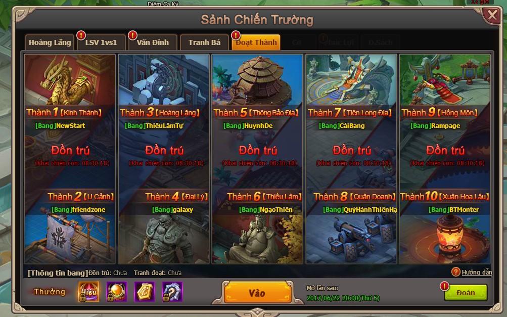 Những lợi ích khi tham gia Bang Hội trong webgame Đại Kiếm Vương 2