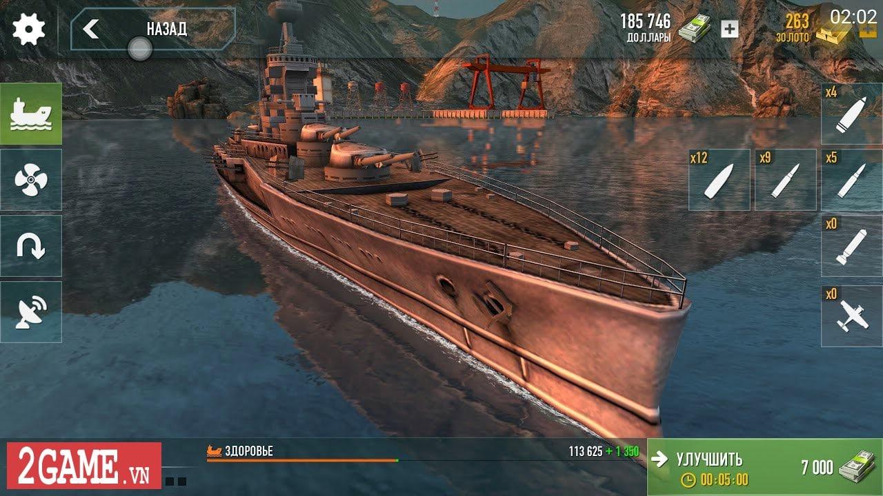 Chởi thủ Thủy Chiến 3D - Game mobile chủ đề chiến hạm rực lửa cho phép game thủ thỏa sức bắn phá 1