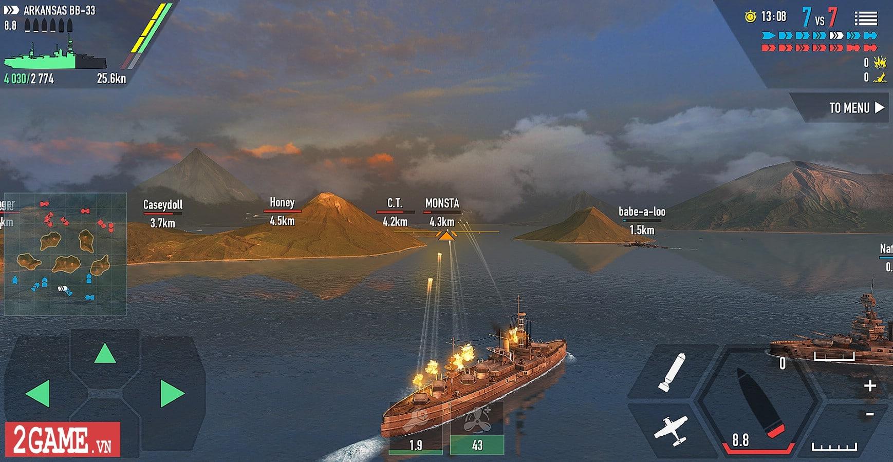 Chởi thủ Thủy Chiến 3D - Game mobile chủ đề chiến hạm rực lửa cho phép game thủ thỏa sức bắn phá 2