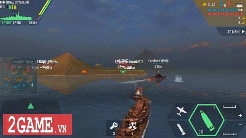 Chởi thủ Thủy Chiến 3D - Game mobile chủ đề chiến hạm rực lửa cho phép game thủ thỏa sức bắn phá 6