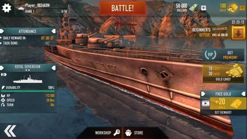 Chởi thủ Thủy Chiến 3D - Game mobile chủ đề chiến hạm rực lửa cho phép game thủ thỏa sức bắn phá 0