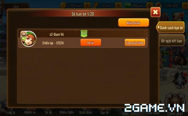 Tam Quốc GO - Hệ thống bạn bè 1