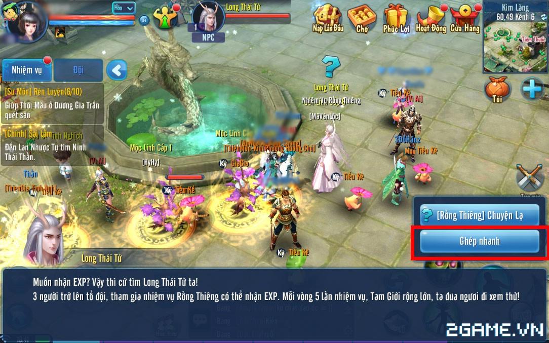 Thiện Nữ Mobile - Hướng Dẫn Hoạt Động Rồng Thiên 5