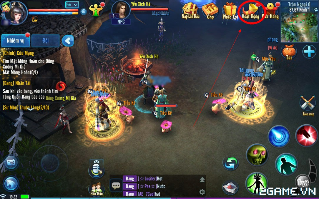 Thiện Nữ Mobile - Hướng Dẫn Hoạt Động Rồng Thiên 0
