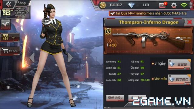 Crossfire Legends - Nếu bạn chưa biết: Thompson-Inferno Dragon đã có mặt ở cửa hàng, đồng giá MSG 90-Beast 1