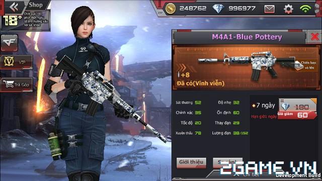 Crossfire Legends - Giá ngon mỗi ngày (22.07): M4A1-Blue Pottery ưu đãi gói 7 ngày chỉ 60 gem 0