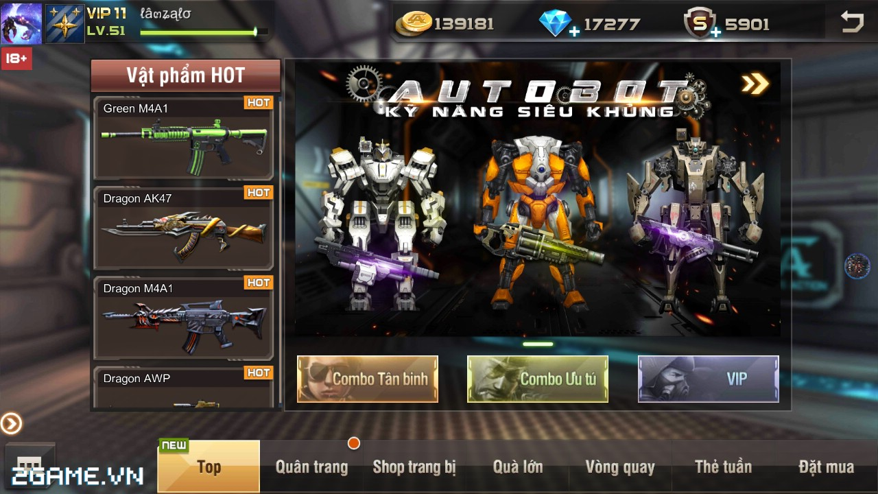 Việt Nam bất ngờ xuất hiện game mobile bắn Robot trực tuyến đầu tiên 3