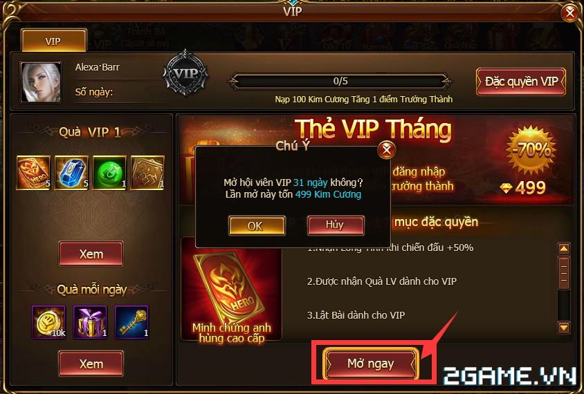 Game Of Dragons - Hệ Thống Tiền Tệ Và Cách Kích Hoạt VIP 3