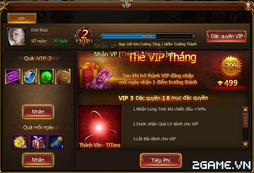 Game Of Dragons - Hệ Thống Tiền Tệ Và Cách Kích Hoạt VIP 4