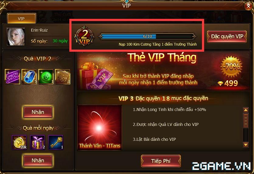 Game Of Dragons - Hệ Thống Tiền Tệ Và Cách Kích Hoạt VIP 6