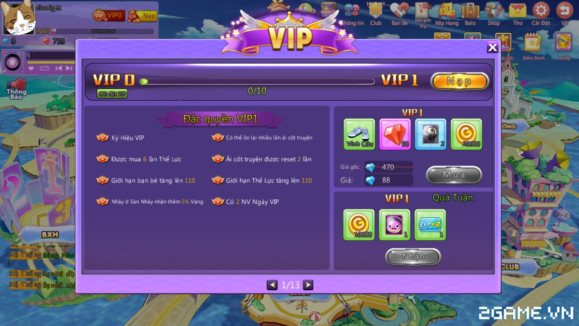 HotSteps 2 - Hệ Thống VIP 0