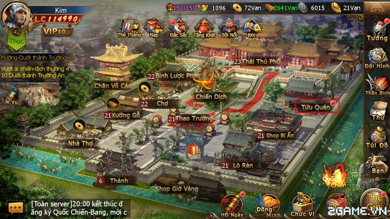 Công Thành Chiến Mobile - Tính năng Chiêu Mộ Tướng 0
