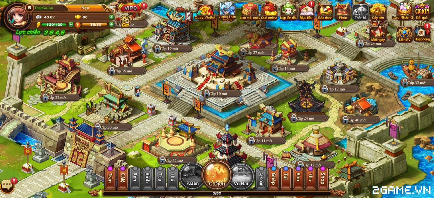 Cận cảnh game mobile Tam Quốc Quần Hùng trong ngày đầu ra mắt 0