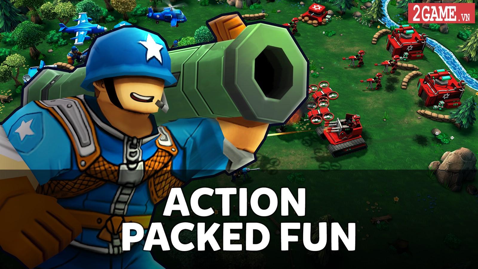 Mini Guns - Game mobile chiến thuật áp dụng lối chơi thả quân giữa Clash Royale và Super Senso 1
