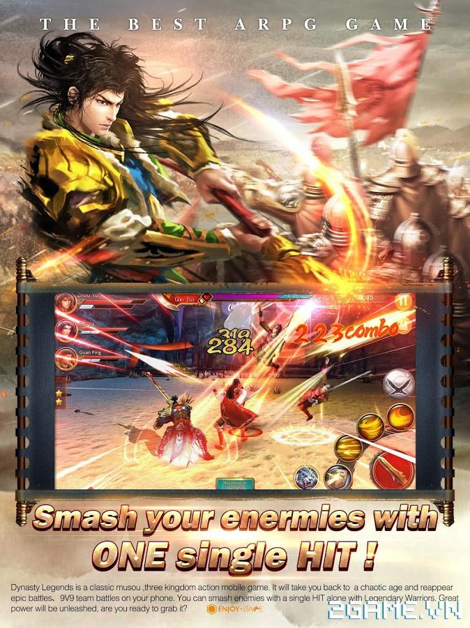 Dynasty Legends - Legacy of King: Game mobile nhập vai chặt chém điên cuồng 1