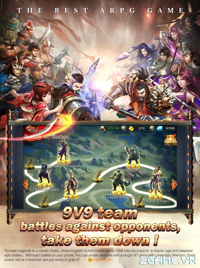 Dynasty Legends - Legacy of King: Game mobile nhập vai chặt chém điên cuồng 3