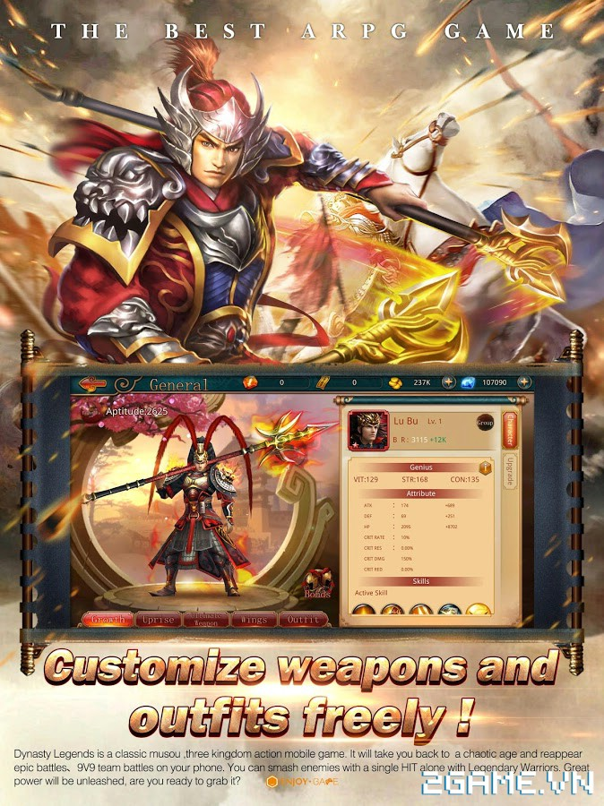 Dynasty Legends - Legacy of King: Game mobile nhập vai chặt chém điên cuồng 4