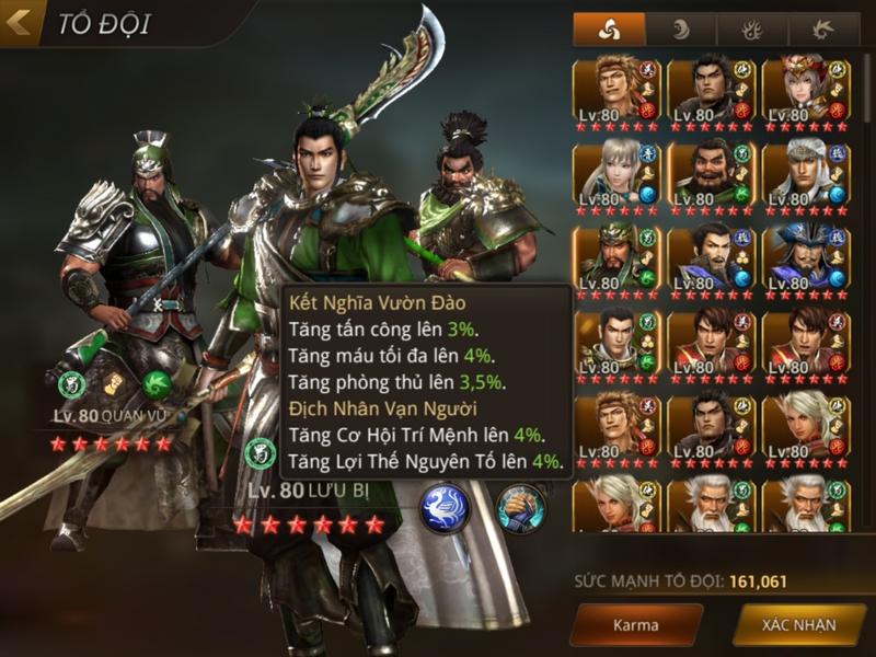 Bí mật về 3 đội hình khủng nhất trong hệ thống Karma của Dynasty Warriors: Unleashed 0