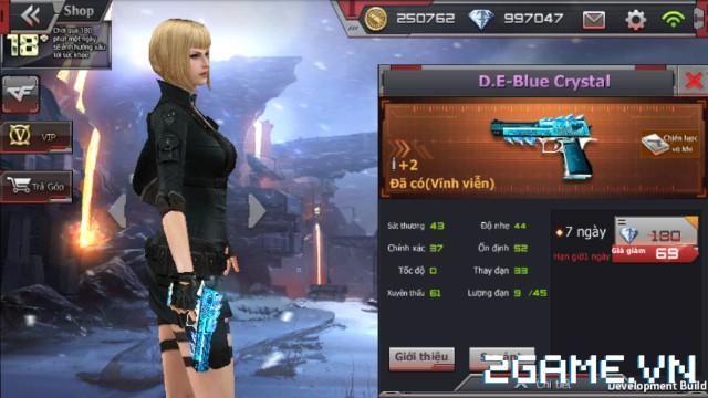 Crossfire Legends - Giá ngon mỗi ngày (30.07): D.E-Blue Crystal chỉ 69 gem, đem theo chơi Đấu đơn súng lục sắp ra mắt 0